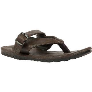 STYLE HEIGHT Men's Black Slip on Sandals