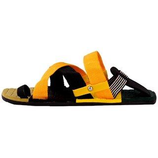 STYLE HEIGHT Men's Multicolor Slip on Sandals