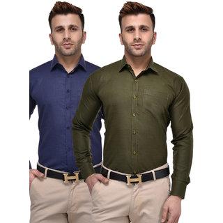 Hangup Regular PolyCotton Shirt for Men Pack of 2