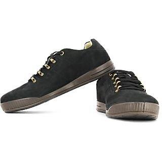 Woodland Men S Black Casual Shoes
