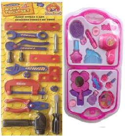 DDH Multicolor Work Tool Set with  Fashion Beauty Set  for kids
