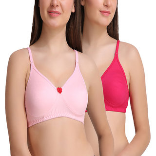 Leading Lady Pack Of 2 Pcs Everyday-T-Shirt With Full Coverage Bra