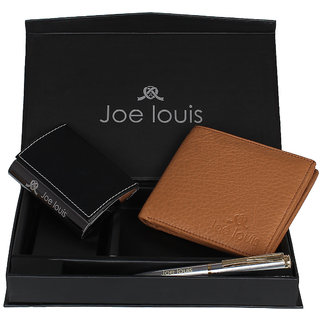 Joe Louis Multicolour Leather Gift Set for Men