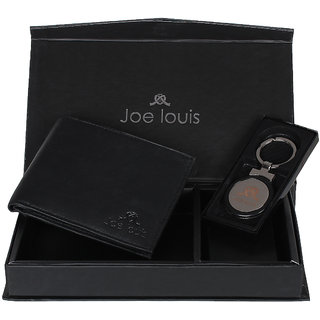 Joe Louis Black Leather Gift Set for Men