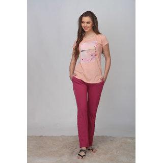 da0ddb6719d Buy Sylvia s Secret Women s T-shirt Pyjama set Online - Get 25% Off