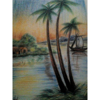 Landscape Colour Pencil Drawing