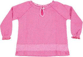 Hugabug Pink Flowery Top in Organic Cotton