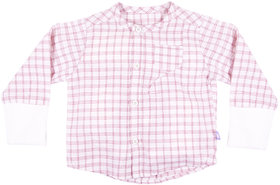 Hugabug Pink Plaid Shirt in Organic Cotton