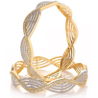 Penny Jewels Party Wear  Simple Bangles Set For Women  Girls (Pack of 2)