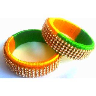 silk thread bangles, hand made