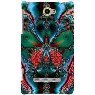 Print Masti Lovely Purple Floral Design Back Cover For HTC Windows Phone 8S :: HTC 8S