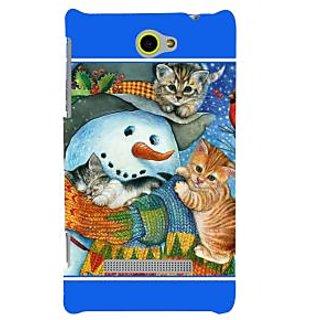 Print Masti Cute Blue Boxes Checks Design Back Cover For HTC Windows Phone 8S :: HTC 8S