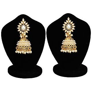 Jewels Gehna Latest Party Wear Fancy Stylish Jhumki Earring Set For Women  Girls