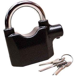 Antitheft Motion Sensor Security Padlock Siren Alarm Lock For Motor, Bikes, Home, Office etc. - ALRMLOCK6
