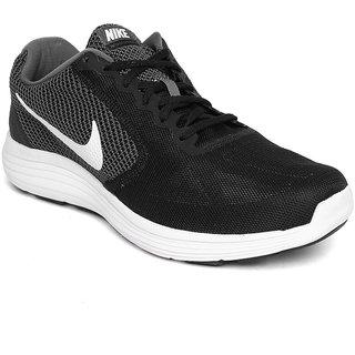 Nike Men Black Grey Revolution 3 Running Shoes