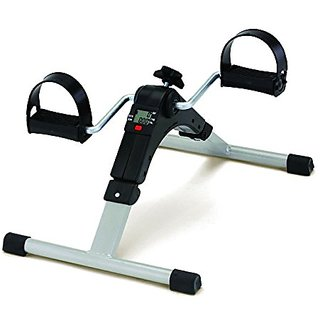 IBS Digital Pedal Exercise Mini Bike / Cycle Aid With Adjjustable Resistance Ab Care King Tonerr (White)