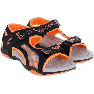 Lancer Black  Orange Sandals