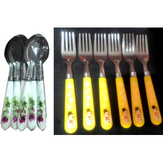 Combo of Designer Spoons (6 pcs) and Forks (6 pcs)