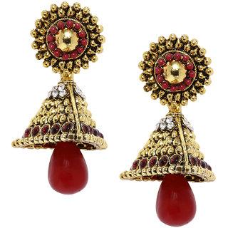 Zaveri Pearls Gold Look Indian Traditional Jhumki Earrings - ZPFK5041