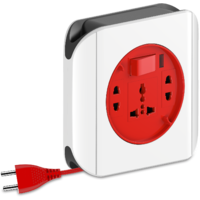 Goldmedal Dazzle 2 Pin Extension Cord (With International Sockets, Master Switch and 5m Power Cord)