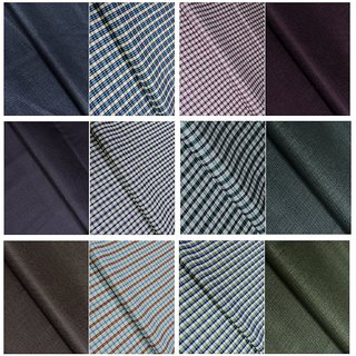 Kundan Sulz Gwalior Men's Executive Shirts and Fancy Formal Trouser Fabric Combo Set - Pack of 12 ( 6 pant and 6 Shirt P