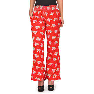 LeFashionelle Crepe Soft Fabric, Regular Fit Printed Western Pajama for Women's  Girl's