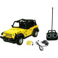 Fantasy India Rechargeable Remote Control Jeep Toy Car Yellow