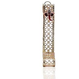 AuraDecor Gold Finish Hand Crafted Aluminum Ganesha Idol Tealight Holder