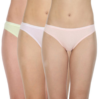d821928e5b Buy Pack of 3 Bodycare Bikini Style Cotton Briefs in Assorted colors ...