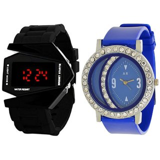 Designer Analog And Digital Watch Combo For Men's And Womens