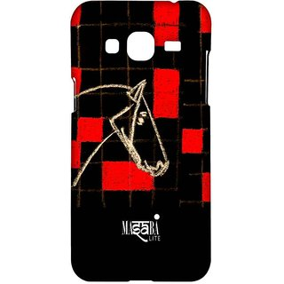 Masaba Red Checkered Horse - Sublime Case For Samsung J3 (2016)