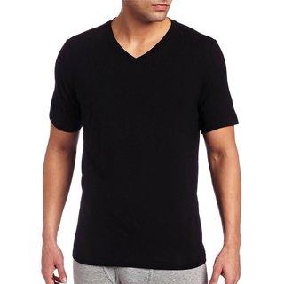 Black Plain T-Shirt For Men