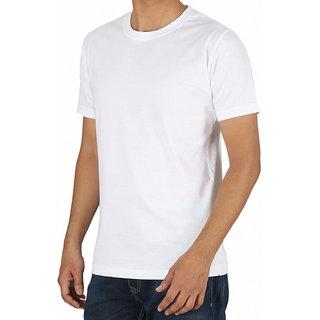 White Plain T-Shirt For Men