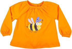Hugabug Orange Bumblebee Top in Organic Cotton