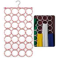 Easydeals 28-hole Hangers Ring Rope Slots Holder Hook Scarf Wraps Storage Hanger Organizer Scarf Rack Tie Rack
