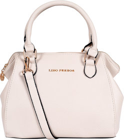 Lino Perros White Hand Bag