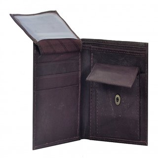 PYFashion Mans Wallet Brown color  With Pure leather