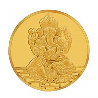 RSBL 1 grams 24k (995) Yellow Gold Ganesh Precious Coin