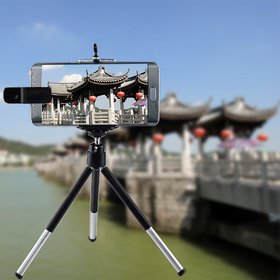 8X Zoom Telescope Camera Telephoto Lenses With Tripod + Holder Kit for i Phone 4 4S 5 5C 5S 6 Plus for  Sa msung Galaxy