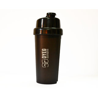 DYEG Full Black Shaker Bottle - 700 ML
