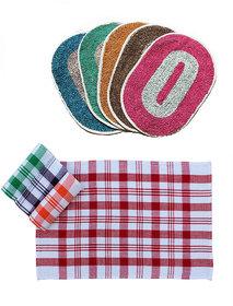 Kcs Combo - 6 Kitchen Napkin  3 Door mat