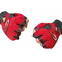 Pickadda Leather Multipurpose Gym Gloves With Padded Palm Support  Net Upside Unisex (assorted)