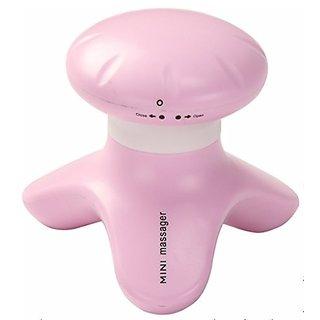 PowerTRC Hand Held Mini Massager, Battery Operated Pink