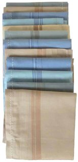 JBG Set of 12 Multicolor cotton Hankerchief(16x16 Inches)