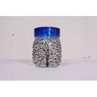 AKSHKalptaru Glass Jar wth Blue Cap