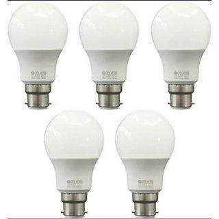 Pack Of 5 B22 9 watt Cool Daylight Led Bulbs Free Led Watch by Polycab
