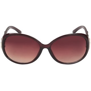 Louis Geneve Stylish  Fashionable Sunglasses For Women Round LG-SG-27-BR-BROWN