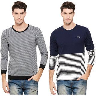Rigo Pack of 2 Men's Multicolor Round Neck T-Shirt