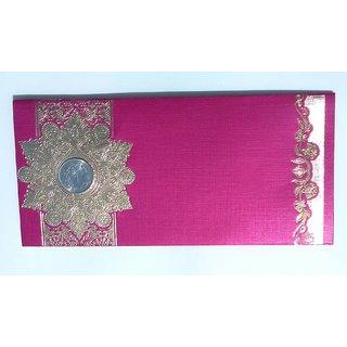 Parvenu Shagun Star Coin Money Envelopes in Purple Color.Pack of 20 Pieces