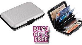nk  Buy 1 Get 1 Free Aluminium Wallet Unisex Credit Card Security ATM Money Holder
